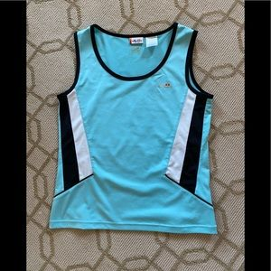 Ellesse Aqua, Navy and White Sleeveless Top